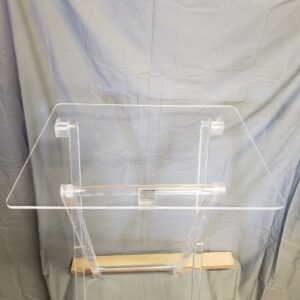 Acrylic TV tray table clear