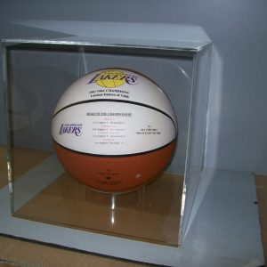 Basketball display case 12″x12″x12″