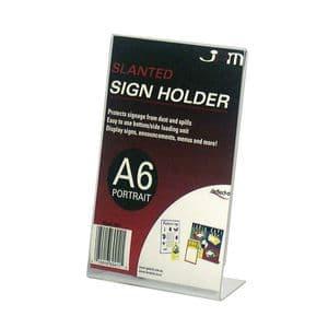 Slantback Signholder, 4″w x 6″h