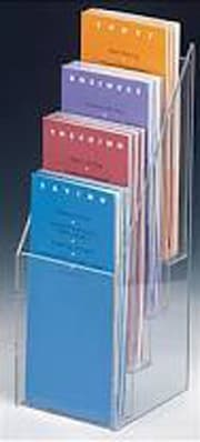 3 Tier 4 Wide Brochure Holder, 4″ x 9″ Brochures