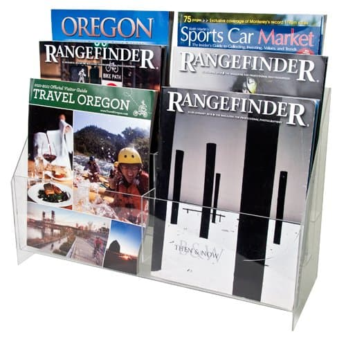 3 Tier Double Wide Brochure Holder, 8-1/2″ x 11″ Brochures