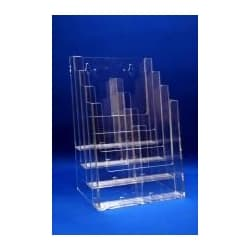 Econo 4 Tier Brochure Holder,4″ x 9″ Brochures