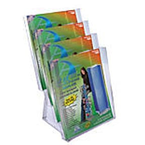 Econo 4 Tier Brochure Holder, 8-1/2″ x 11″ Brochures