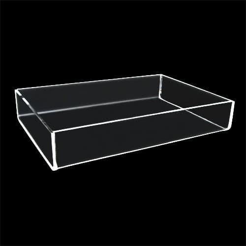 Acrylic Tray, 12″l x 6″w x 4″h