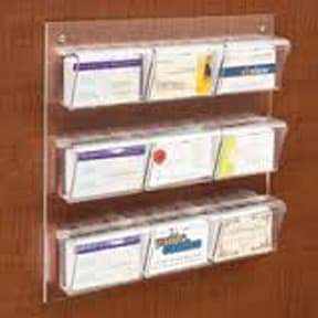 Wallmount 9 Business Card Display