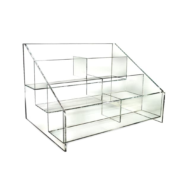 Slatwall Hoisery Bin Display, 3 Tier, 6 Pockets