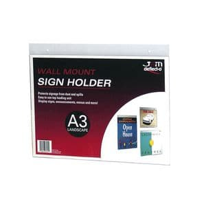 Wallmount Signholder, 11″w x 8-1/2″h