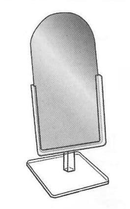 Countertop Mirror, 9″l x 12″w x 18″h