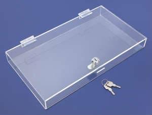 Acrylic Tray w/ Lid, 12″l x 8″w x 2″h