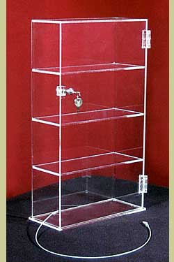 Showcase, 4 Shelves, 13″l x 7-1/2″w x 21″h