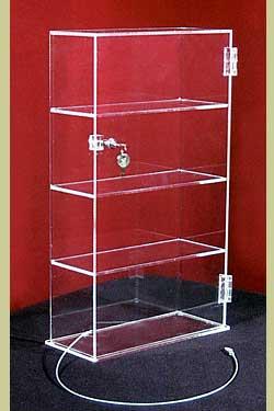 Showcase, 4 Shelves, 13″l x 7-1/2″w x 21″h