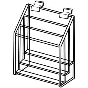 Slatwall 3 Tier Brochure Holder, 4″ x 9″ Brochures