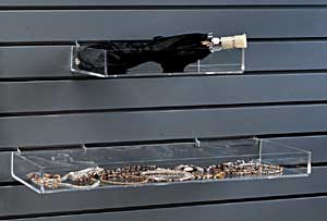 Acrylic Slatwall Tray, 8″l x 4″w x 2″h