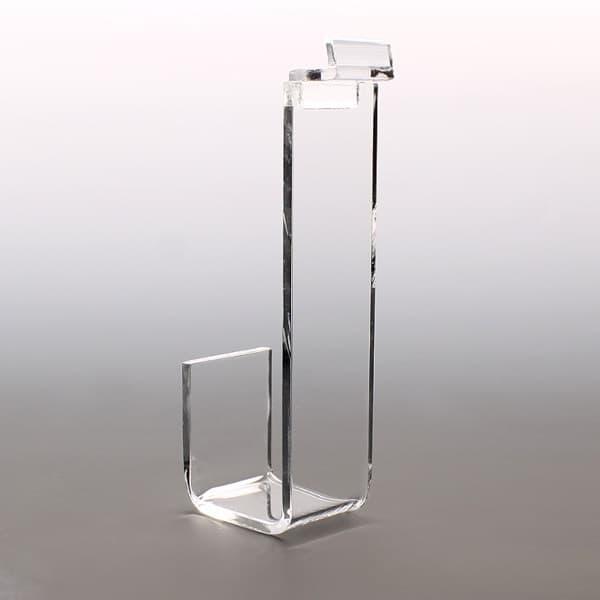 Acrylic Slatwall Hook, 1-1/2″w x 2″ Lip