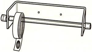 Slatwall Sticker Rack, 12-1/2″w