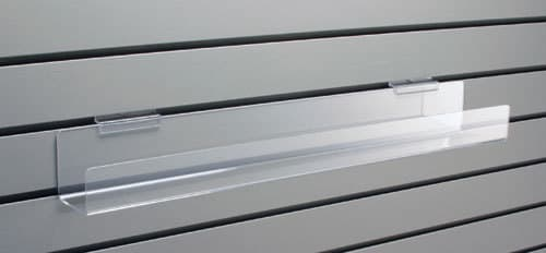 Large Slatwall Tilted Shelf, 24-3/4″l x 5-1/4″w
