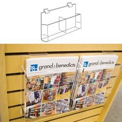 Slatwall Double Brochure Holder, 8-1/2″ x 11″
