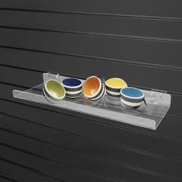 Econo Slatwall Shelf, 10″l x 5″w, w/ 1″ Lip