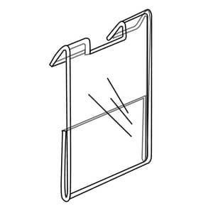 Slatwall Econo Signholder, 2″w x 3-1/2″h