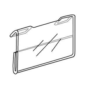 Slatwall Econo Signholder, 5-1/2″w x 3-1/2″h