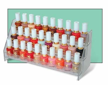 Acrylic nail polish display rack 30 bottles