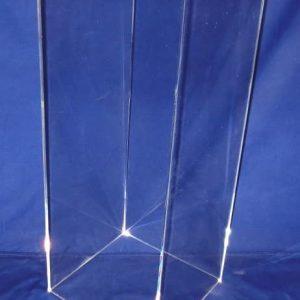 12″ x 12″ x 36″ – Clear Acrylic Pedestal, 1-1/4″