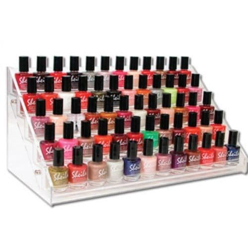 Acrylic nail polish display rack 60 bottles