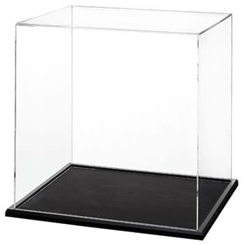 10″ x10″ x10″ cube with rabetted base (1/4″ black)