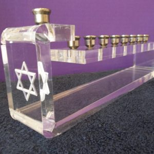 Acrylic Menorah 14″ x 3.50″ x 6″ tall