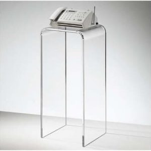 12″ x 12″ x 18″ – Clear Waterfall Pedestal, 1-1/4″