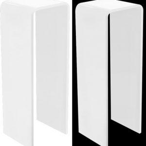 Acrylic Pedestal Waterfall Style White 3/4″ 36″