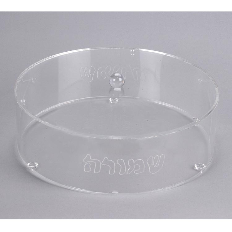 Acrylic Schmura box 12″ diameter with lid