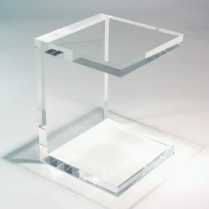 Acrylic Side Table 18″ x 18″ x 24″ tall 2″