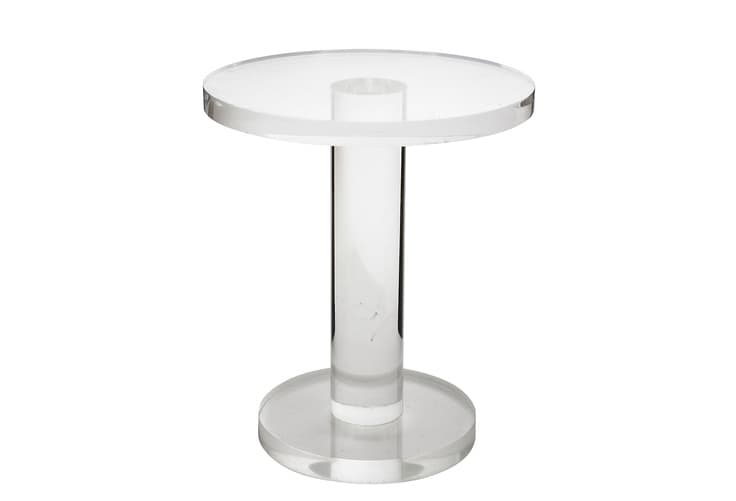 Acrylic Side Table 16″ diameter top 1.25″ thick