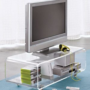 Acrylic TV stand 48″ waterfall style