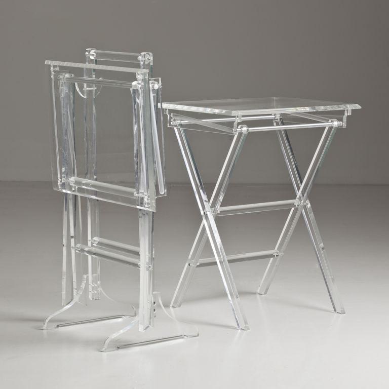 Acrylic TV Tray Tables