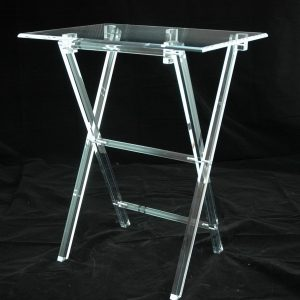 Acrylic TV tray table clear