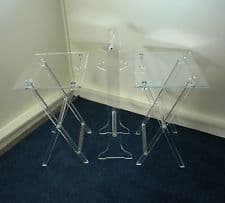 Acrylic TV tray table stand for 4