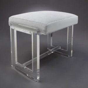 Acrylic Vanity Stool 1.00″ clear acrylic