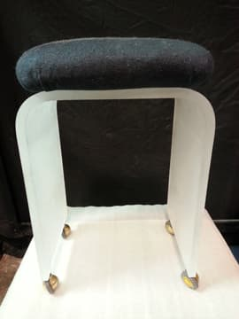 Acrylic Vanity Stool Waterfall Style 3/4″ Frosted