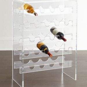 Acrylic Wine Bottle Display Waterfall Style
