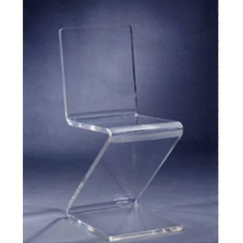 Acrylic Z Chair 1.00″ clear