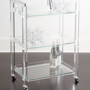 Acrylic Bar Cart Clear Acrylic