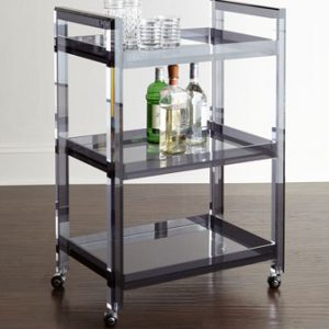 Acrylic Bar Cart Black Acrylic