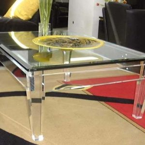 Acrylic Cocktail Table 48″ x 48″ x 18″