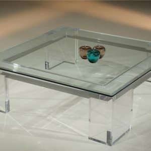 Acrylic Cocktail Table 48″ x 48″ x 16″