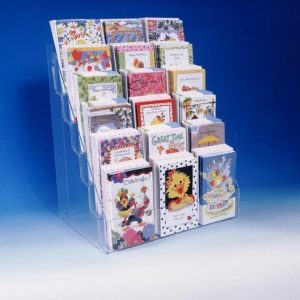 Acrylic countertop greeting card display 18 pieces