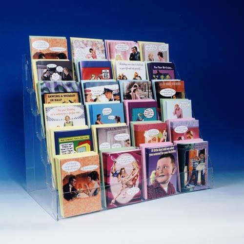 Acrylic countertop greeting card display 24 pieces