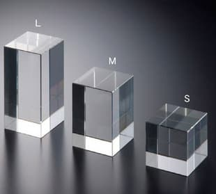 Acrylic block ring display set