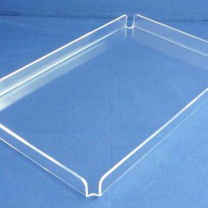 Acrylic Econo Tray, 10″l x 8″w x 1-1/4″h